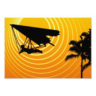 sunscene hang gliding 9 cm x 13 cm invitation card