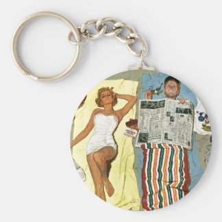 Sunscreen? Basic Round Button Key Ring