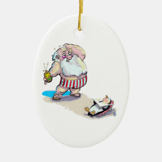 sUnScReEn sAnTa Christmas Ornament