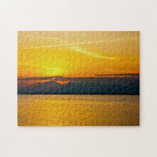 Sunset 01 Digital Art - Puzzle