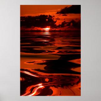 Sunset-14-Oil-Spill Poster