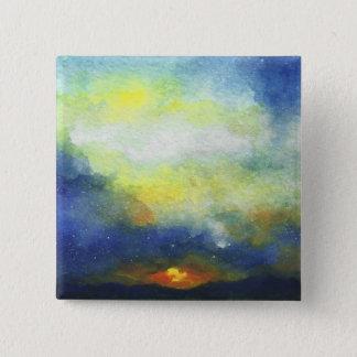 Sunset 15 Cm Square Badge