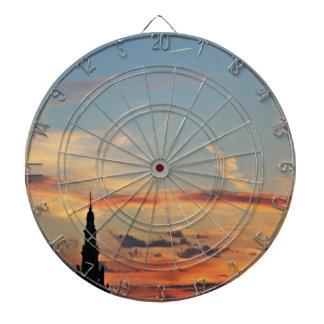 sunset-1643769 dartboard