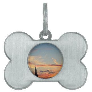 sunset-1643769 pet name tag
