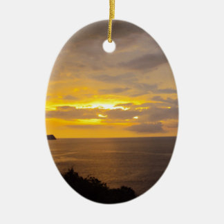 Sunset 2 Costa Rica Christmas Ornament