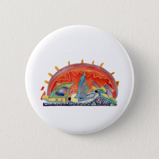 Sunset 2 over Cannes, customisable 6 Cm Round Badge