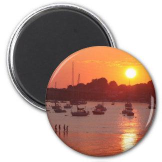 Sunset 6 Cm Round Magnet