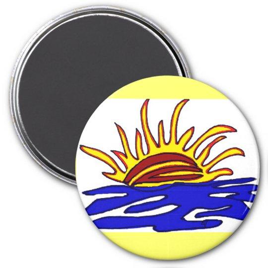 Sunset 7.5 Cm Round Magnet