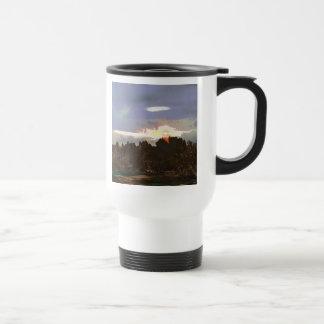 Sunset - a New Beginning - Digital Abstract Design Stainless Steel Travel Mug