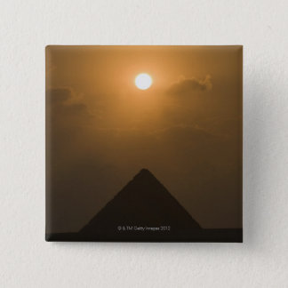 Sunset above The Great Pyramid 15 Cm Square Badge