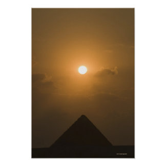 Sunset above The Great Pyramid Poster