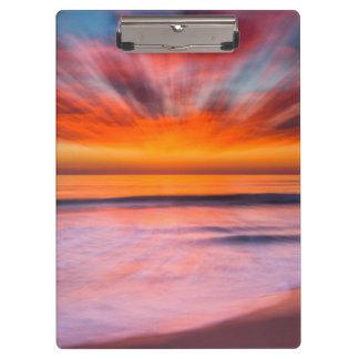 Sunset abstract from Tamarack Beach Clipboard