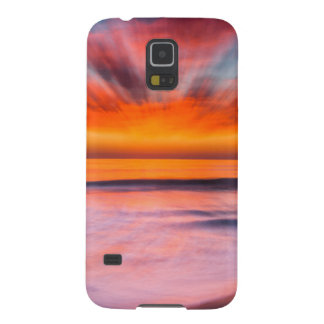 Sunset abstract from Tamarack Beach Galaxy S5 Case