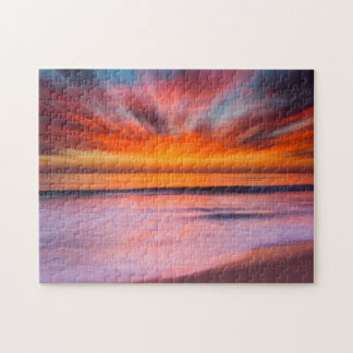 Sunset abstract from Tamarack Beach Jigsaw Puzzle