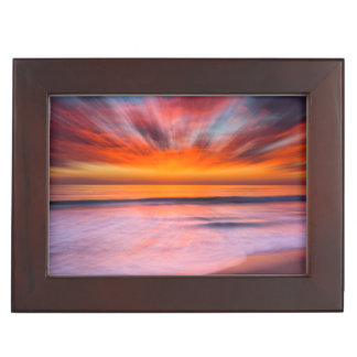 Sunset abstract from Tamarack Beach Keepsake Box
