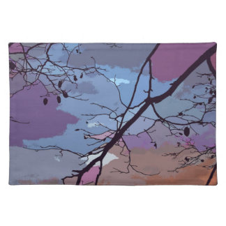 Sunset Abstract Place Mats