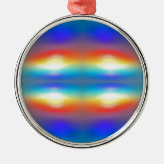 Sunset abstract  Portrait Silver-Colored Round Decoration