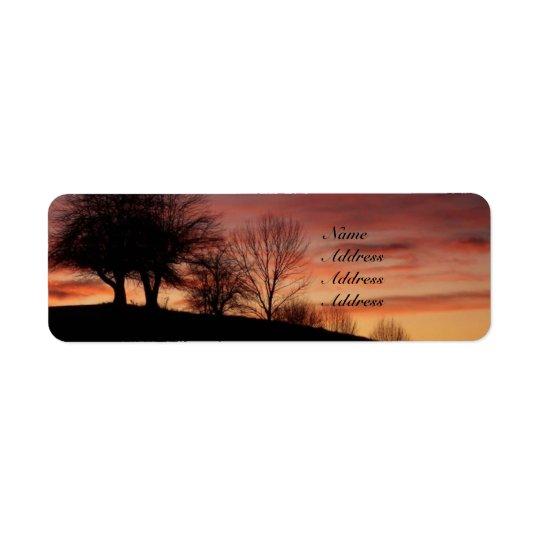 Sunset Address Labels