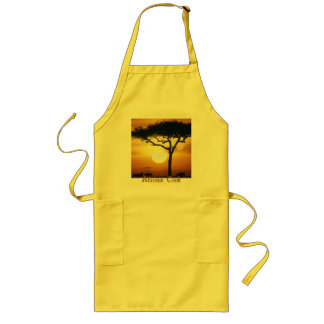Sunset African Cook Long Apron