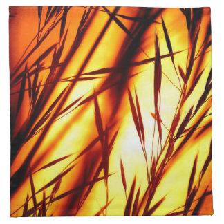 Sunset afterglow printed napkins