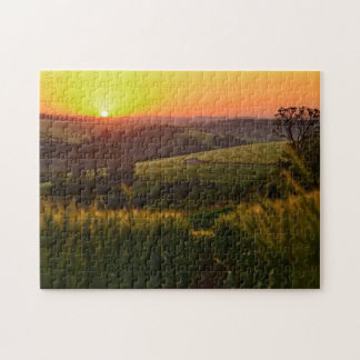 Sunset Agriculture Wheat Jigsaw Puzzle