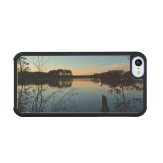 Sunset 'Almost Gone' Carved® Maple iPhone 5C Case