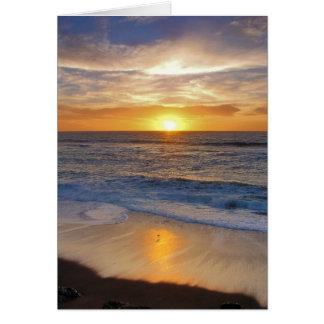 Sunset along the California coast. Cards