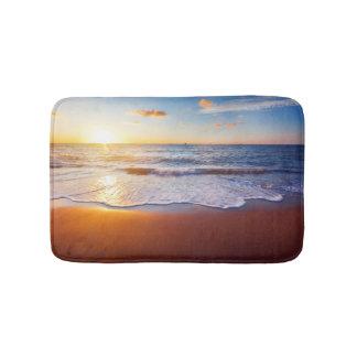 Sunset and beach bath mats