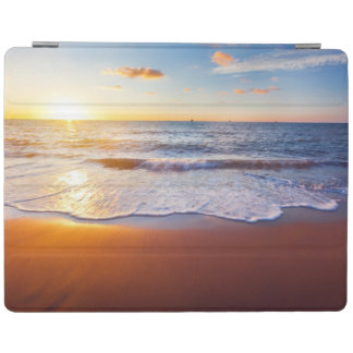 Sunset and beach iPad cover