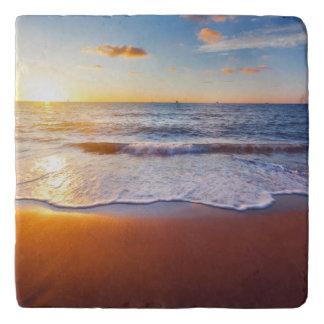 Sunset and beach trivet