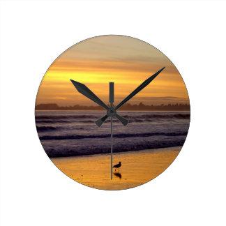 Sunset and Bird Wall Clock