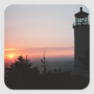 Sunset and Lighthouse Sticker