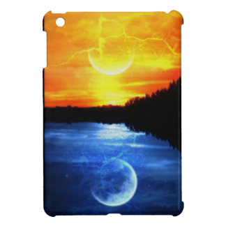 sunset and moon iPad mini case