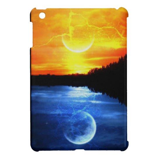 sunset and moon iPad mini case