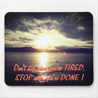 Sunset And Motivational Quote Mouse Mat