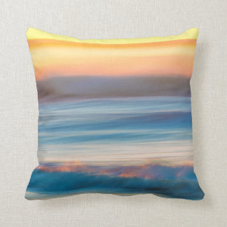 Sunset and Ocean | Cape Disappointment State Park Cushion