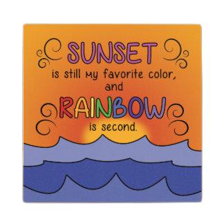 Sunset and Rainbow Coaster - Wood
