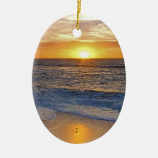Sunset and Rocks Christmas Ornament