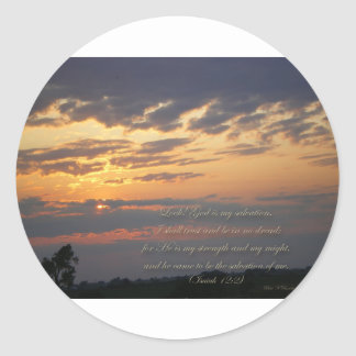 Sunset and Scripture  Isa12:2 Stickers