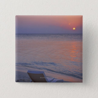 Sunset and Sea 15 Cm Square Badge