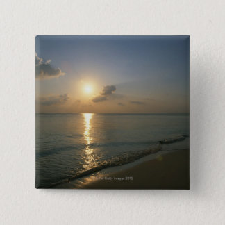Sunset and Sea 2 15 Cm Square Badge