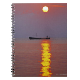 Sunset and Sea 2 Spiral Notebook