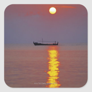 Sunset and Sea 2 Square Sticker