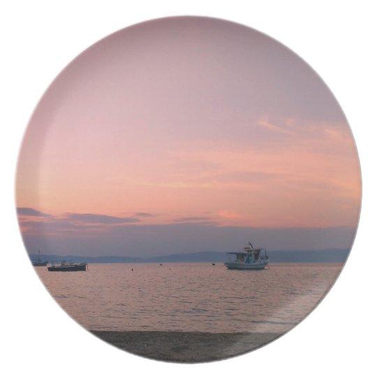 Sunset and Sea Melamine Plate
