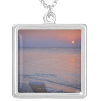 Sunset and Sea Silver Plated Necklace