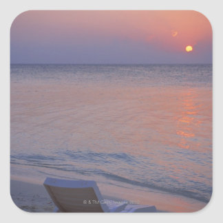 Sunset and Sea Square Sticker