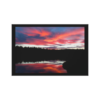 Sunset and Seawall Pond Acadia National Park Gallery Wrap Canvas