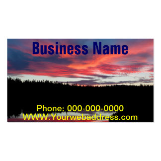Sunset and Seawall Pond Acadia National Park Pack Of Standard Business Cards