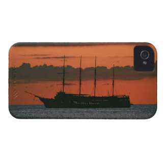 Sunset and Ship iPhone 4 Case