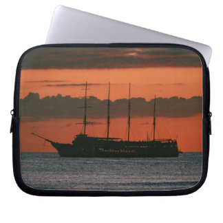 Sunset and Ship Laptop Sleeve